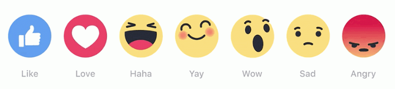 Facebook Reactions – (thanks SoBananaPenguin)